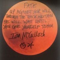 Ian McCulloch Handwritten Lyrics The Killing Moon