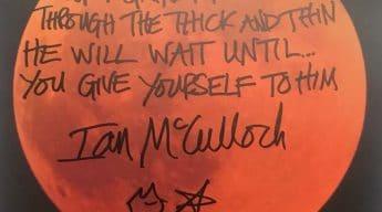 Killing Moon signed lyrics