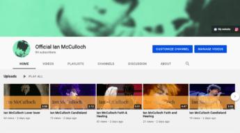 Ian McCulloch YouTube Channel