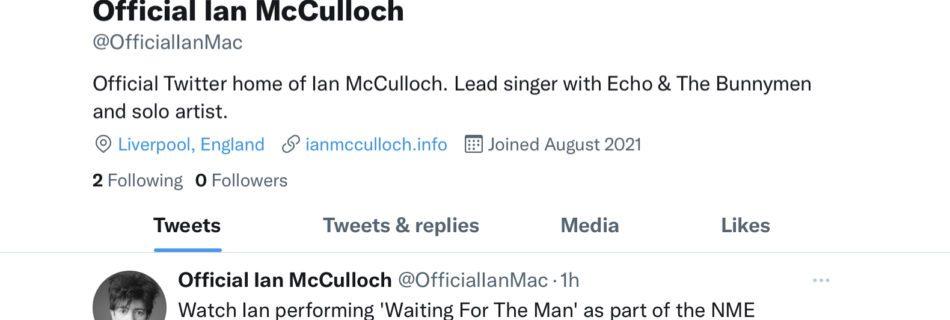 Ian McCulloch Twitter