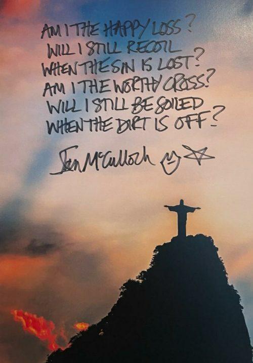 Ian McCulloch The Cutter Handwritten Lyrics